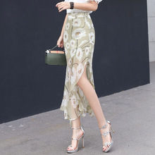Boho Summer Women's Thin Floral Skirt Korean Chiff