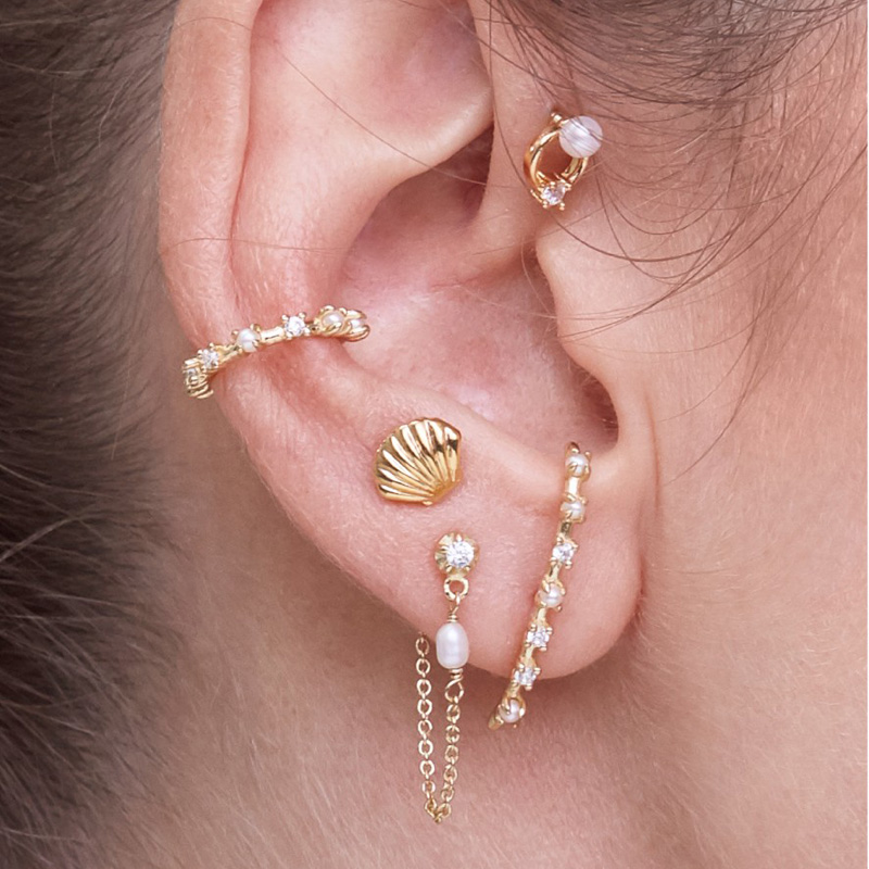 Geometric delicate Ear Studs 925 Sterling Silver