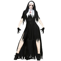 Halloween Costumes Horror Nun Vampire Set Scary Party Maxi Ghoust Fancy Dreadful Witch Religion Day of The Dead Cosplay Costumes
