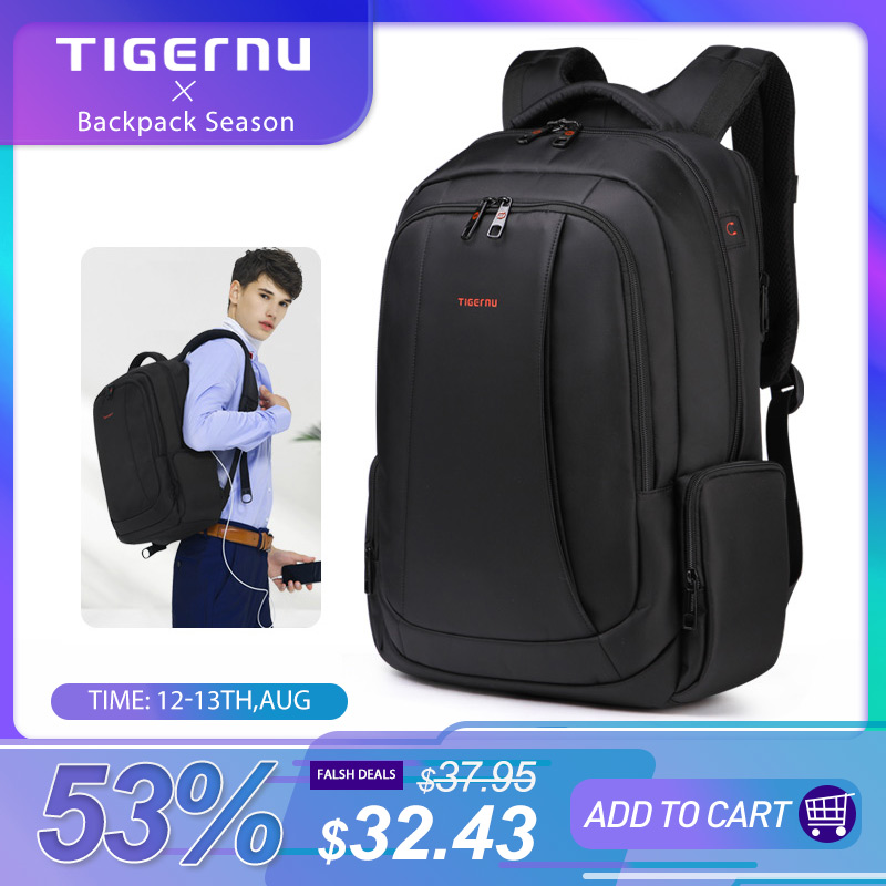Tigernu Anti Theft Nylon 27L Men 15.6 inch Laptop Backpacks School Fashion Travel Backpacking Backpack Male Backpack For Laptop|backpack for teenager|tigernu 15backpack fashion - AliExpress