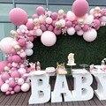 96 шт. розовый шар гирлянда арочный комплект латексные воздушные шары пакет для Baby Shower или для вечеринки по случаю свадьбы девочка День рожде...