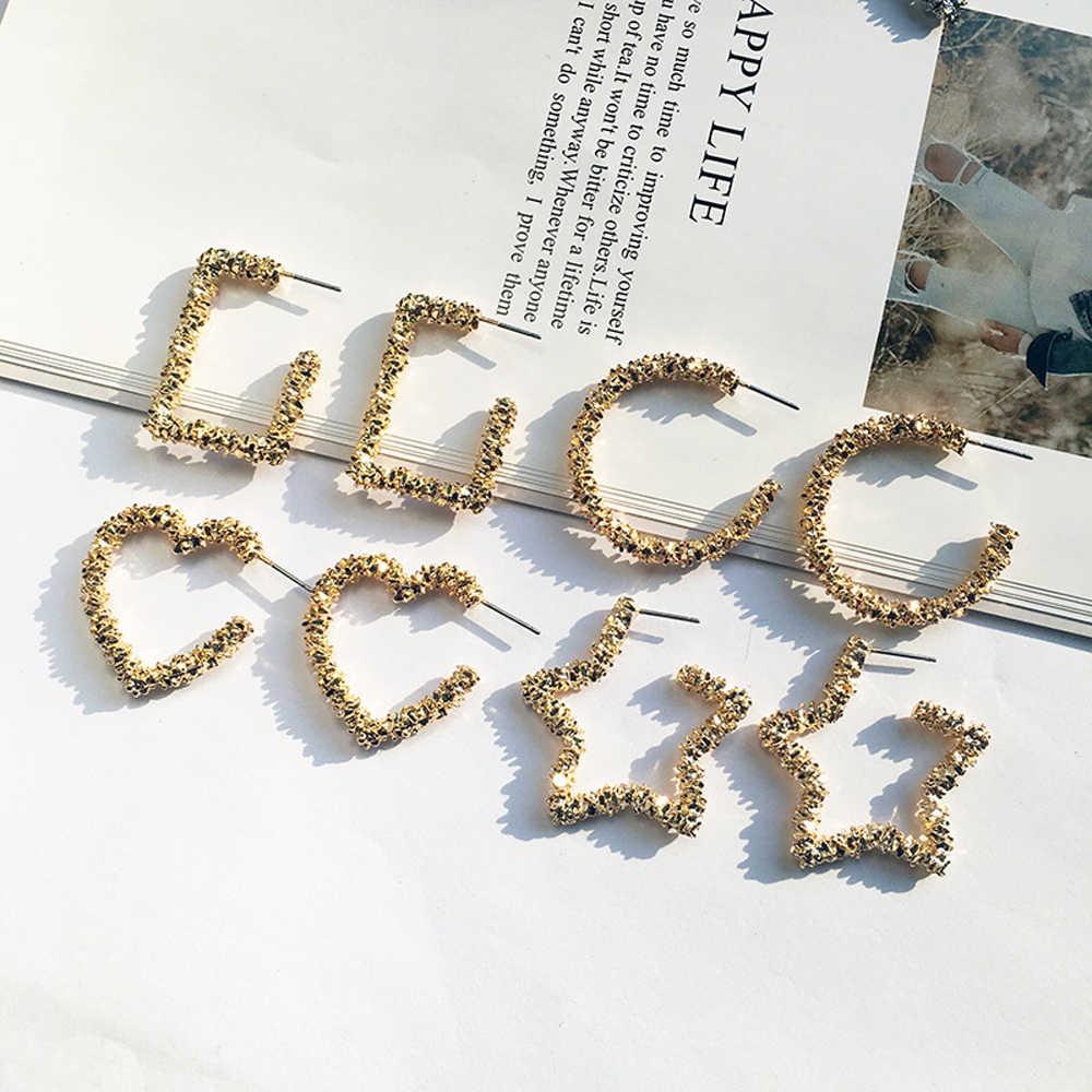Legenstar nuevos pendientes a la moda para mujer pendientes geométricos de Metal plata/oro de gran tamaño Star 2019