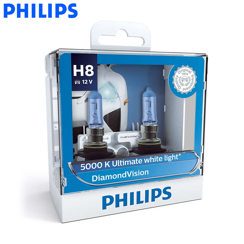Philips Car-Lamps Halogen-Bulbs Fog-Light 5000K Diamond Vision Xenon 12360DV Super-White