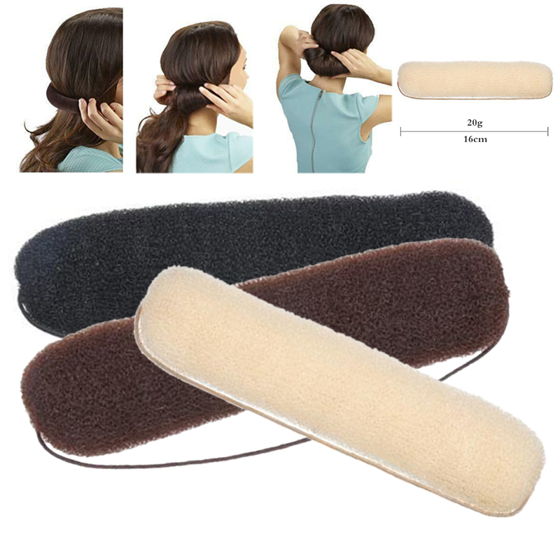 High Quality Bun Hair Maker Sponge Bump Up Hollywood Style Roll Tuck Donut Updo French Twist Hair Styling Accessories 3 Colors