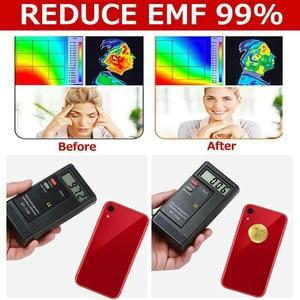 Image 5 - 10 pièces facile à appliquer ordinateur portable Ultra mince appareils électroniques 24k plaqué or protecteur autocollant téléphone portable EMF bloqueur Anti rayonnement