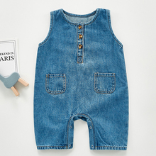 Jumpsuit Toddler Outfit Cotton Romper Newborn-Baby Baby-Girl Infant Denim Sleeveless