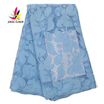 African Water Soluble Lace Fabric With Stones 2020 High Quailty Nigerian Cord  Embroidered Lace Fabric For Women Dress AMY3146B