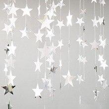 Banners Garland Hanging-Paper Star-String Diy-Decoration Birthday Bunting Craft Wedding