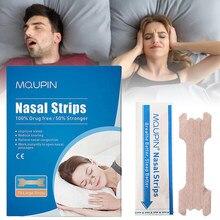 70 pçs/caixa respirar tiras nasais maneira direita parar ressonar anti ressonar tiras mais fácil melhor respirar cuidados de saúde