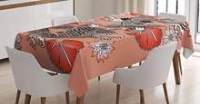 Koi Fish Tablecloth Carp in Traditional Japanese Ink Style with Lilles Classic Artwork Dining Room Kitchen Table Cover(China)