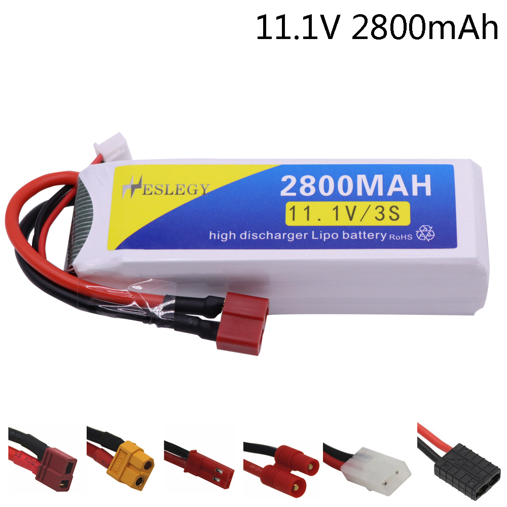11.1V 2800mAh Upgrade <font><b>Lipo</b></font> Batterry 40C For RC Quodcopter Cars Boat Drone Spare Parts <font><b>3S</b></font> <font><b>2200mah</b></font> 11.1 V high capacity RC Battery image