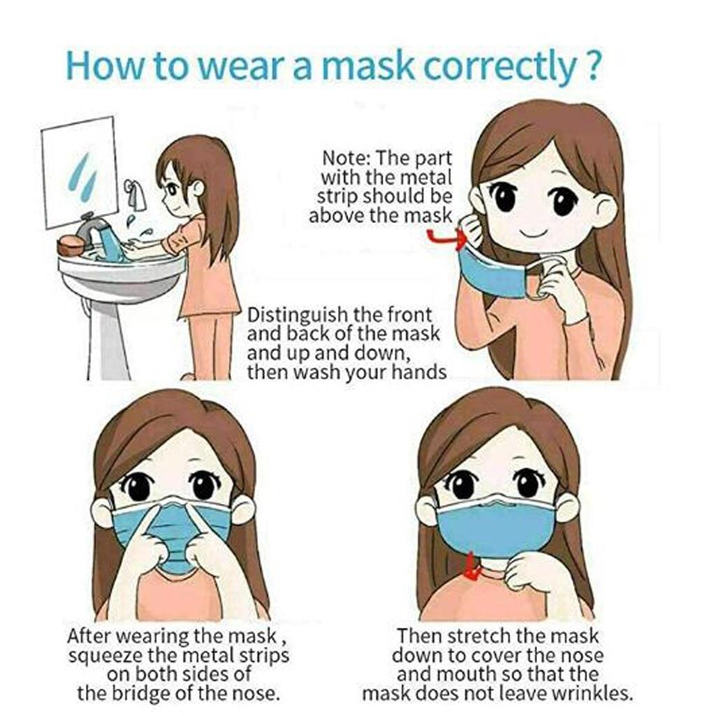 1/2/10/20 pces preto rosa amarelo máscara protetora à prova proteger rosto boca capa ao ar livre para segurar seguro máscara facial para ao ar livre 6