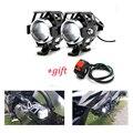 Universal Motorrad Motorrad Scheinwerfer Lampen Lampe U5 Led strahler Flash 12V Fit Für Suzuki GS500E GS X1100F 550M katan RM85 auf