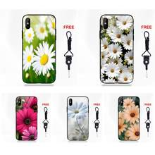 Tempered Glass Hot Selling For Huawei Honor 7X P20 Lite Mate 10 Pro For Galaxy S8 S9 Plus Redmi 5 Note 5A 6 Daisy Flower(China)
