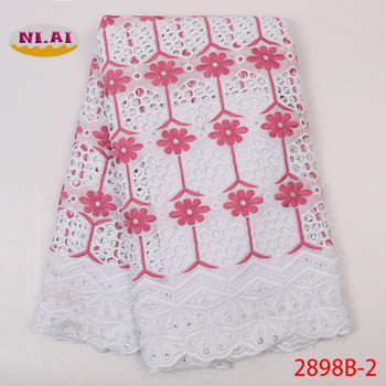 Pure Cotton Design Swiss Voile Lace In Switzerland African Dry Lace Fabric