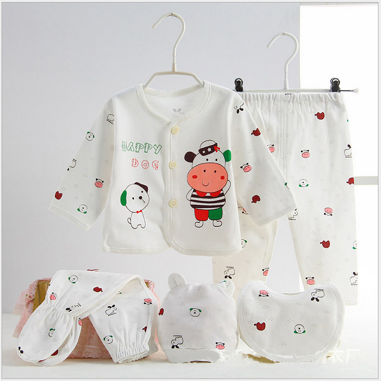 New Style Spring And Autumn Baby Clothes Children Underwear Pure Cotton Infant Baby Underwear/Newborns Underwear Five Pieces Set