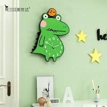 Большие бесшумные акриловые декоративные настенные часы с зеленым