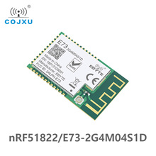 NRF51822 Ble 4,2 módulo inalámbrico E73 2G4M04S1D 4dBm Bluetooth Transmisor receptor transmisión de datos interfaz de antena PCB IPEX