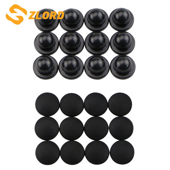 Zlord Car Door Lock Screw Protector Stickers Cover for Peugeot 206 207 301 307 308 407 408 508 2008 3008 4008 image