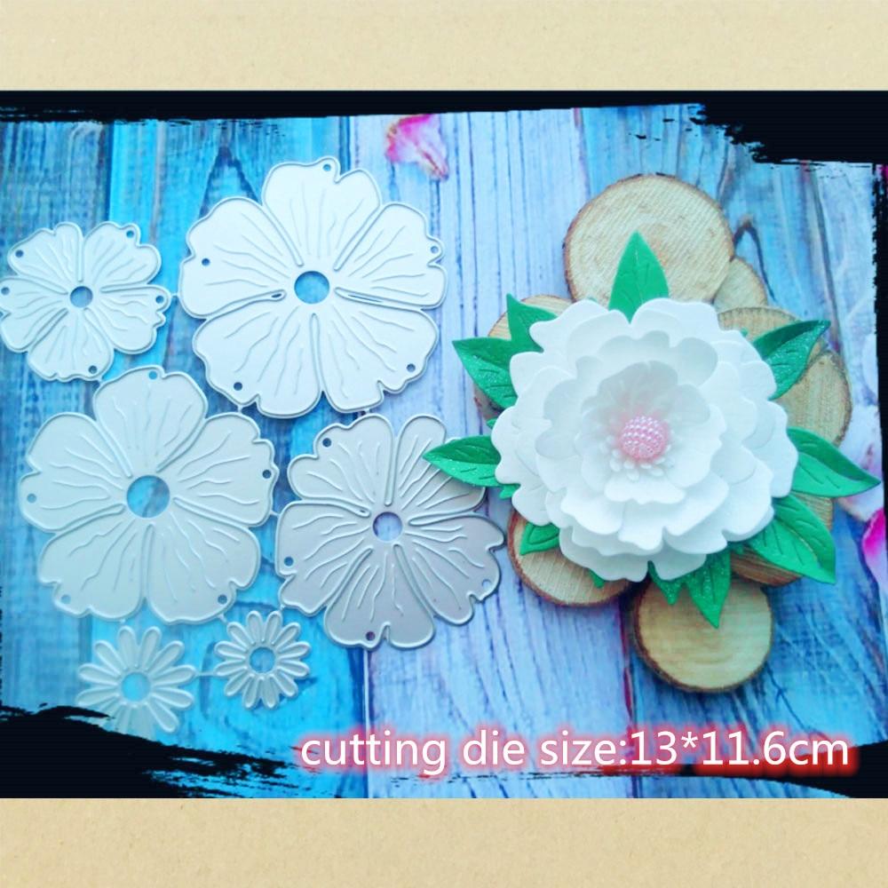 Beautiful Flowers Set Metal Cutting Dies Stencil Template For Embossing DIY Scrapbooking Paper Album Gift Cards Making New Dies