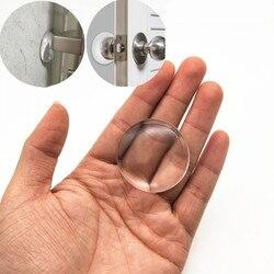 6pcs Transparent Wall Protector Door Handle Bumper Protective Plug Non-slip Sticker Self-adhesive Round bumper door Stop Muffler