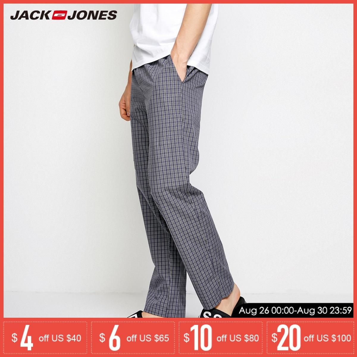 Pants Jones Men Cotton Summer Casual 2183HC501 Plaid Jack Trousers Spring New
