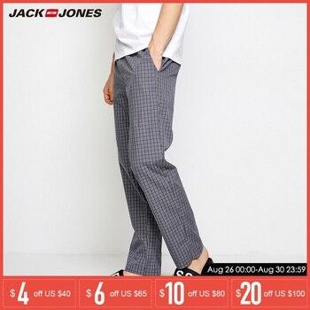 5da460afd12b Jack Jones Primavera Verano nuevos pantalones de algodón para hombre  Pantalones informales a cuadros para Hombre | 2183HC501