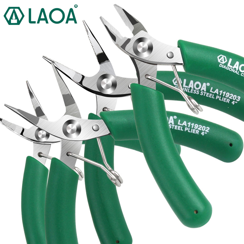 LAOA Stainless Steel Electronic Pliers Mini Diagonal Pliers Long Nose Pliers Electronic Scissors|Pliers|   - AliExpress