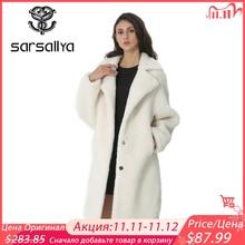 Winter Women Wool Coat Cashmere Female Long Coat Blends Woolen Elegant Autumn Jacket For Ladies Thick Warm Fur Clothes Girl 2019