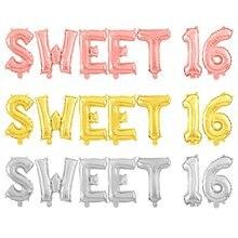 Ballons décoratifs pour 16e anniversaire, couleur or Rose, 7 pièces/lot, pour filles, accessoires de fête
