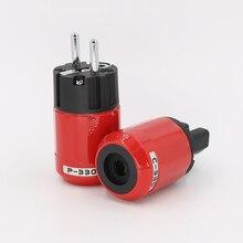 P330 + C330 Âm Thanh Cao Cấp Mạ Rhodium EU Schuko AC Cắm Điện + IEC Cổng Kết Nối Cắm Tự Làm Dây Nguồn