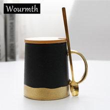 Ретро кружки wourmth в скандинавском стиле с крышкой керамическая