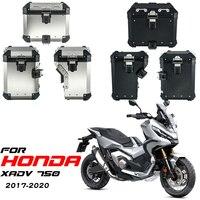 Alforjas de aluminio para motocicleta Honda, estuche superior para alforja de equipaje, soporte de acero inoxidable, para Honda XADV 750 XADV750 2017-2020