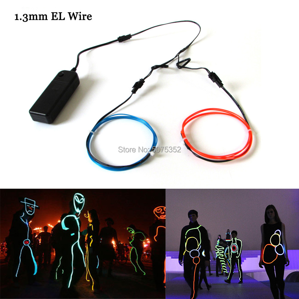 1M Neon Led Strip Dress Costume Decor 1.3mm Waterproof EL Wire Rope Tube Glow Cable Light Led Lamp For Christmas Night Club