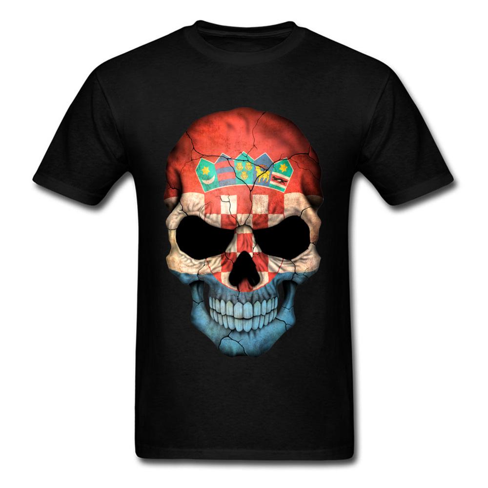 Croatian Flag Skull_black