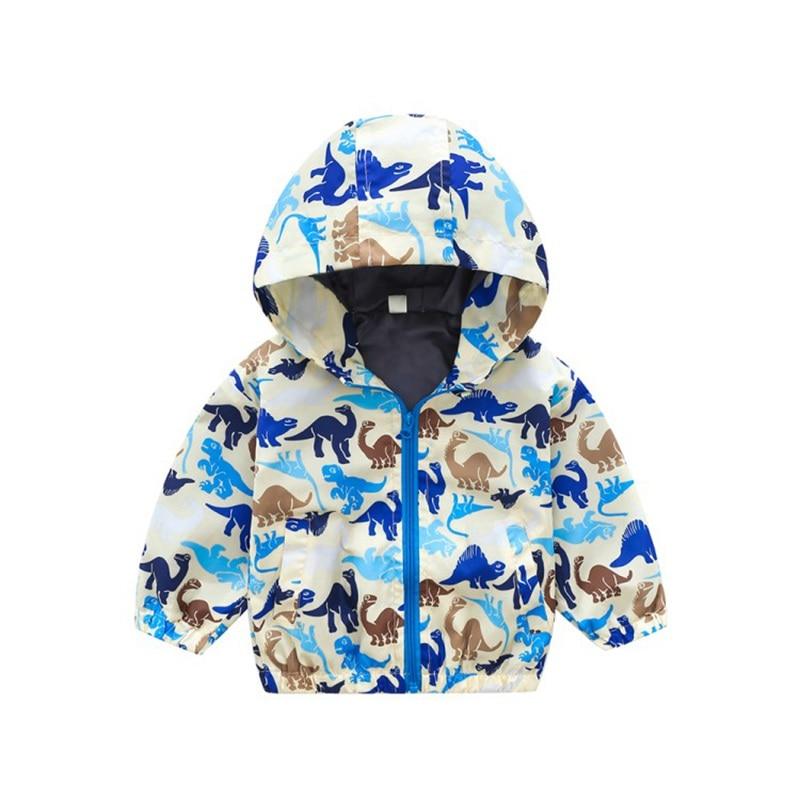 CROAL CHERIE  Fall Outerwear Coats Boys Kids Girls Jacket Cute Dinosaur Children Clothing Casual Baby Spring Jacket 80-130cm (15)