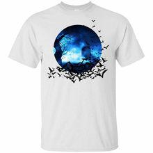 Halloween bat camisa truque ou deleite traje lua cheia raven camiseta tamanho S-3Xl impressão camiseta masculina marca tshirt verão