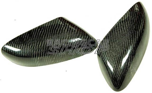 REAL CARBON FIBER WING MIRROR COVER 1pair For MAZDA RX-8 RX8 R3 SE3P 13B MAZDASPEED 03-11 T045M 2