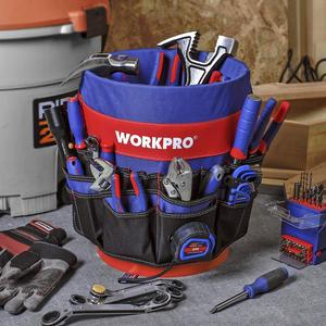 Image 5 - WORKPRO 5 Gallon Bucket Tool Organizer Bucket Boss Tool Bag with 51 Pockets Fits to 3.5 5 Gallon Bucket (Tools Excluded)