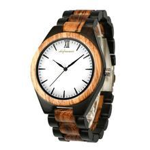 Reloj de madera reloj de madera de los hombres de cuarzo de lujo reloj de madera de movimiento japonés relojes grandes hombres relojes de hombre para padres regalos Dropshipping. Exclusivo.