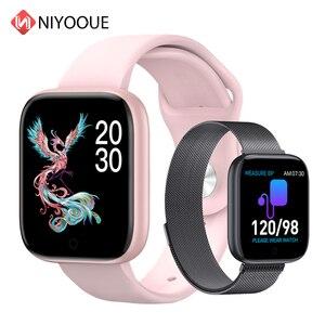 Image 1 - Reloj inteligente T85 con pantalla a Color, pulsera deportiva con control del ritmo cardíaco, la presión sanguínea y el oxígeno