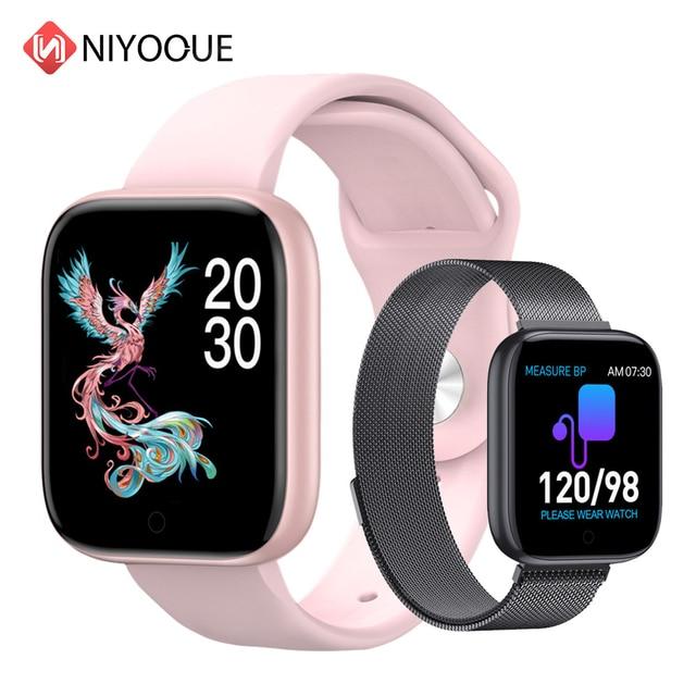 Reloj inteligente T85 con pantalla a Color, pulsera deportiva con control del ritmo cardíaco, la presión sanguínea y el oxígeno