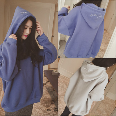 Chic Women Autumn Students' Baggy Baseball Clothes Female Korean Version Hoodie Sweatshirts Womens Clothes
