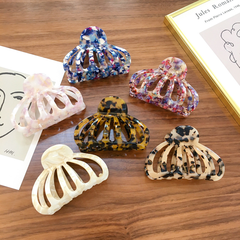 Korea New Style Acetate Hair Accessories 9cm Fashion Hollow Out Hair Claws For Women