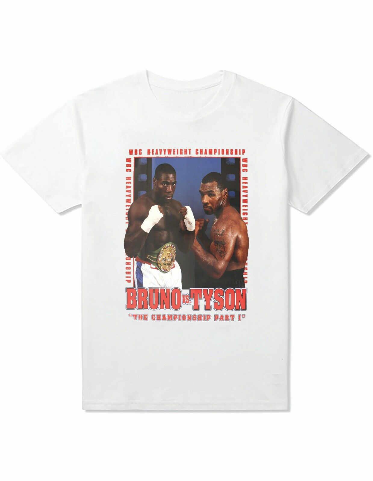 FRANK BRUNO Del MIKE TYSON boxeo camiseta recuerdos de fanático del boxeo