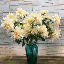 Simulation Chrysanthemum Dahlia Multi-layer Dahlia Artificial Flower Artificial Flower Plastic Flower Flower Silk Cloth Flower цена 2017
