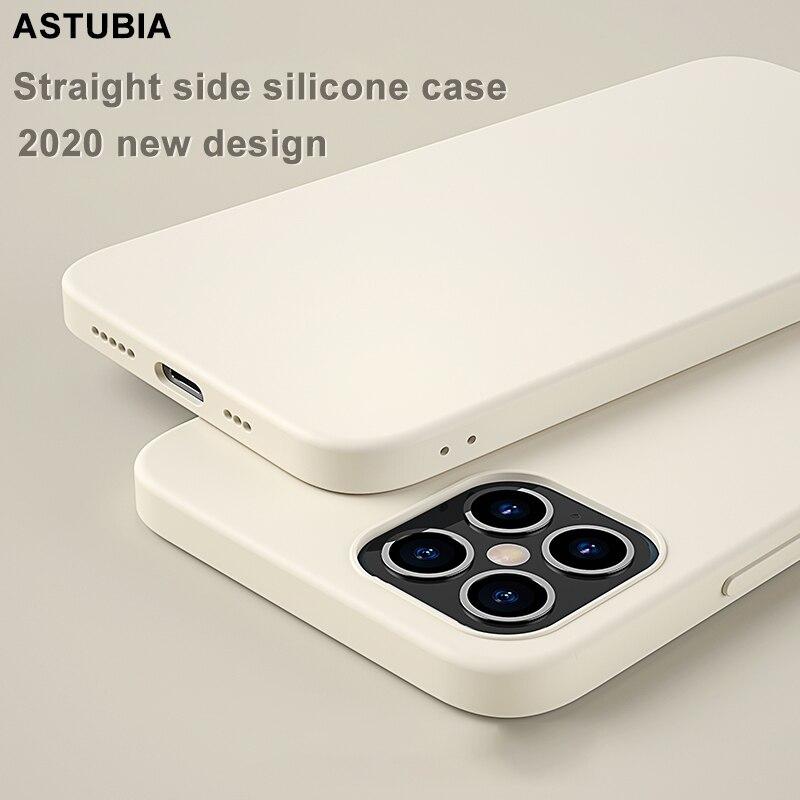 ASTUBIA жидкий силиконовый чехол для телефона iPhone 12 11 Pro Max, оригинальный Официальный чехол для iPhone XR XS Max 7 8 Plus SE 2020, чехол|Специальные чехлы|   | АлиЭкспресс