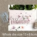Штампы для резки металла XLDesign, трафаретная форма для украшения на день рождения, альбом для скрапбукинга, бумажная карта, тиснение, штампы