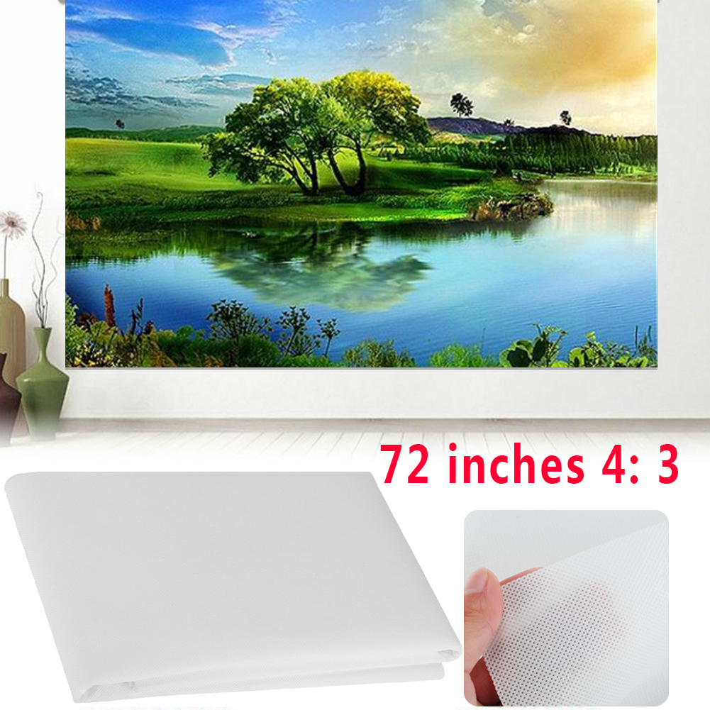 New 4:3 & 72 Inch Portable Projector Screen Movies Cinema Matt Accessories Home Entertainment HD Projector screen for home