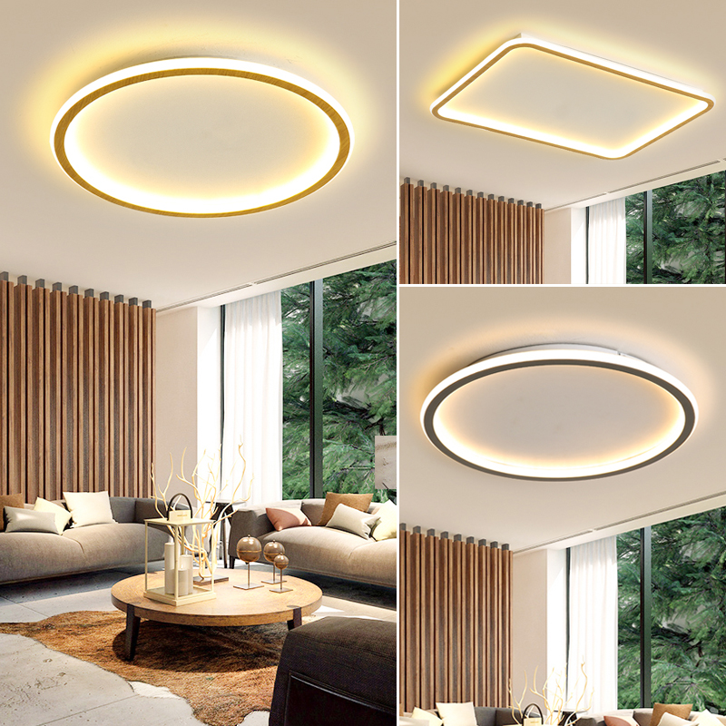 New arrival modern blackwhite ultra-thin led ceiling light rectangular round bedroom living room lamp led ceiling lamp